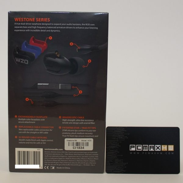 Westone W20 Dual Driver Universal Fit Noise Isolating Earphones