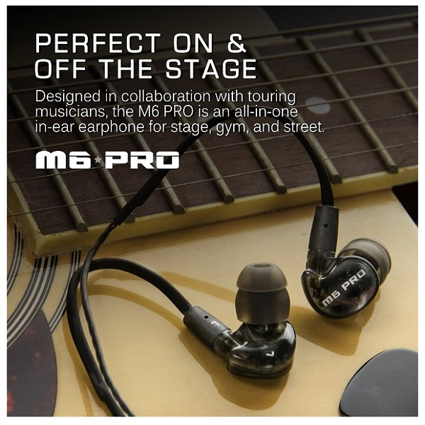 MEE Audio M6 PRO Universal Fit In-Ear Monitors Headphones – Black (1)