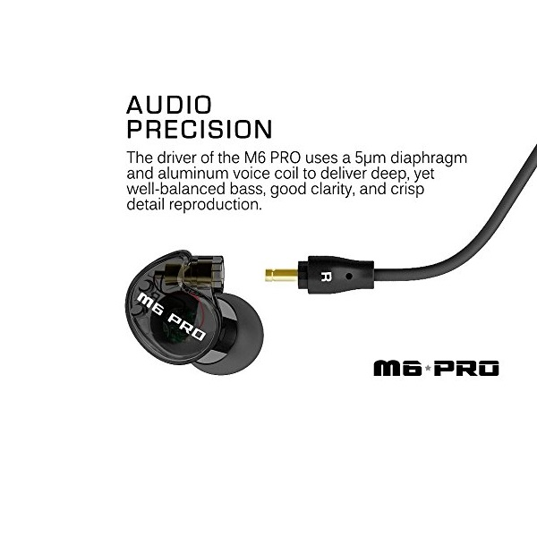 MEE Audio M6 PRO Universal Fit In-Ear Monitors Headphones – Black (2)