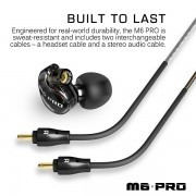 MEE Audio M6 PRO Universal Fit In-Ear Monitors Headphones – Black (4)