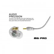 MEE Audio M6 PRO Universal Fit In-Ear Monitors Headphones – Clear (1)