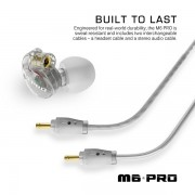 MEE Audio M6 PRO Universal Fit In-Ear Monitors Headphones – Clear (4)
