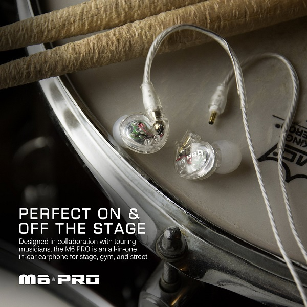 MEE Audio M6 PRO Universal Fit In-Ear Monitors Headphones – Clear (5)