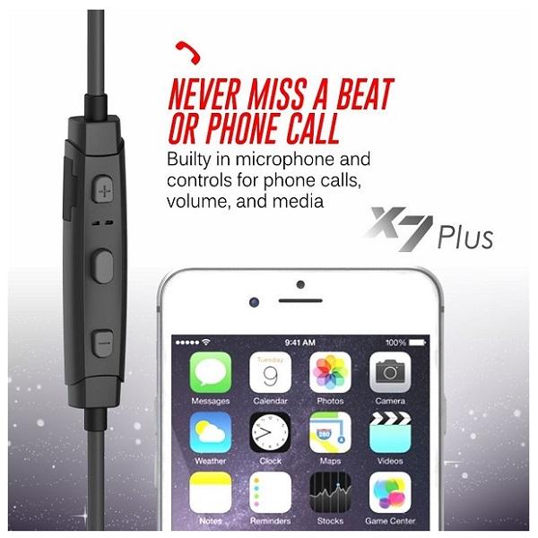 MEE Audio X7 Plus Stereo Bluetooth Wireless Sports In-Ear HD Headphones (1)