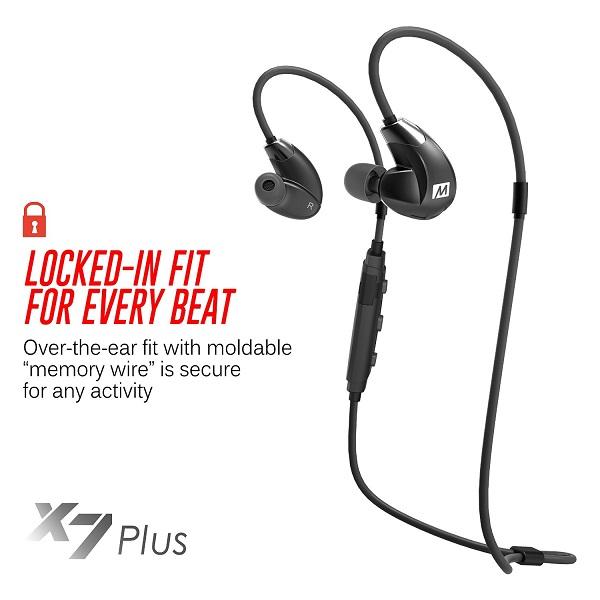 MEE Audio X7 Plus Stereo Bluetooth Wireless Sports In-Ear HD Headphones (3)