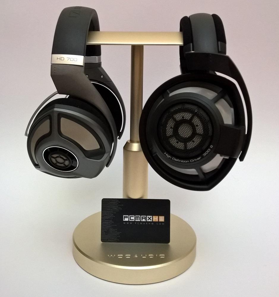 Woo audio hps t universal adjustable height aluminum double headphone stands - Woo headphone stand ...