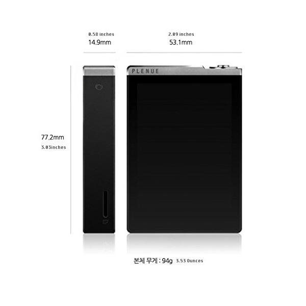 Cowon Plenue D High Resolution Music Player 32GB – Silver Black (1)