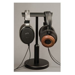 WooAudio HPS-T Universal Adjustable Height Aluminum Double Headphone Stands - Silver,Black (4)