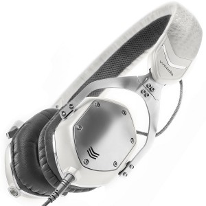 V-MODA XS On-Ear Folding Design Noise-Isolating Metal Headphone - White Silver (2)