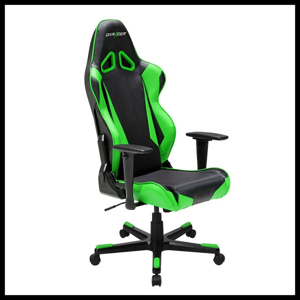DX Racer Racing Series Gaming Chair – Black Green ( Green LED ) (1)