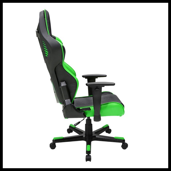 DX Racer Racing Series Gaming Chair – Black Green ( Green LED ) (2)