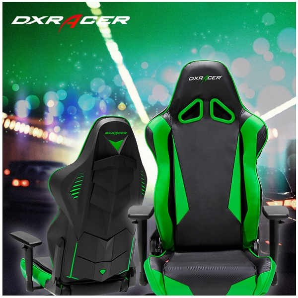 DX Racer Racing Series Gaming Chair – Black Green ( Green LED ) (3)