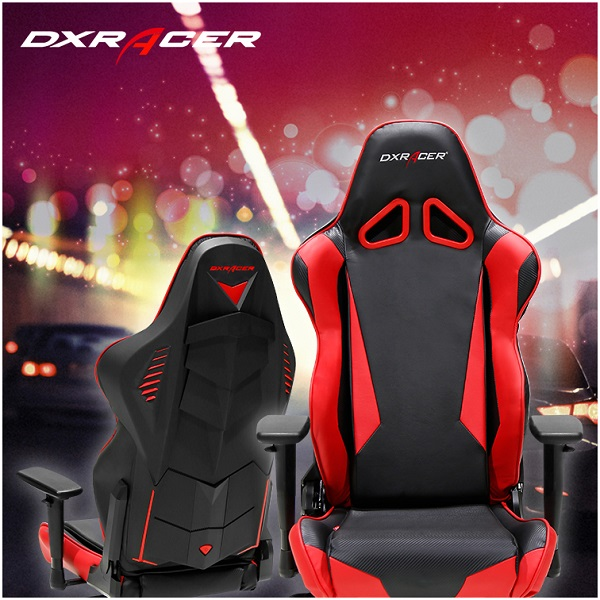 DX Racer Racing Series Gaming Chair – Black RED ( RED LED ) (1)