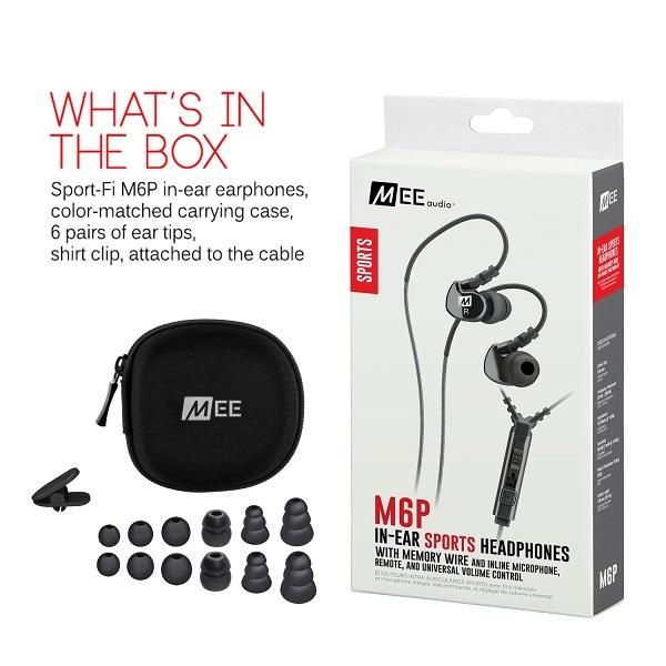 MEE Audio Sport-Fi M6P In-Ear Universal Volume Control Headphones
