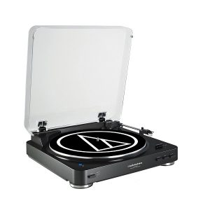 Audio Technica AT-LP60BK-BT Fully Automatic Bluetooth Wireless Belt-Drive Stereo Turntable - Black