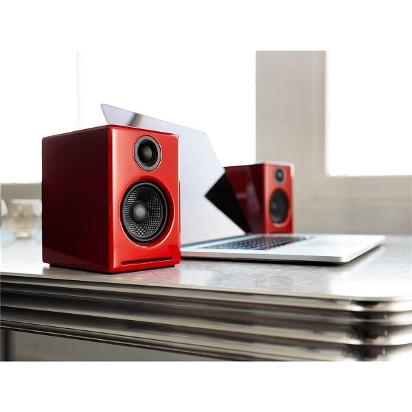 Audioengine A2+ Premium Powered Desktop Speakers – Pair – Red (2)