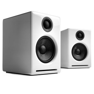 Audioengine A2+ Premium Powered Desktop Speakers - Pair - White (2)
