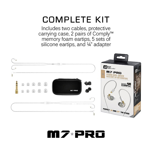 Mee audio M7 PRO Universal-Fit Hybrid Dual-Driver In-Ear Monitors (4)