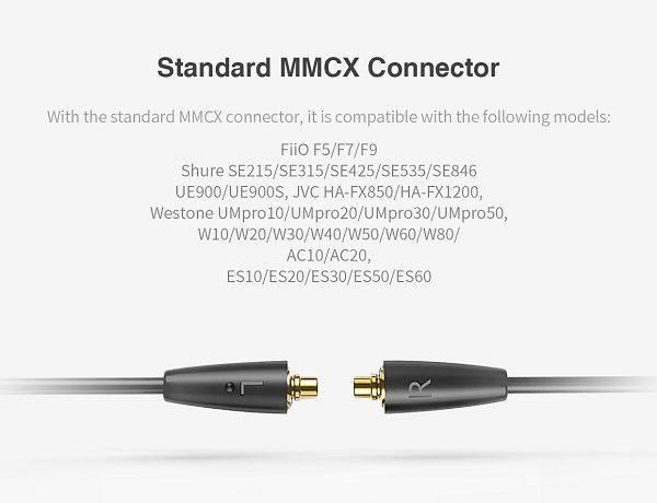 کابل مخصوص ایرفون / هدفون های با کانکتور MMCX مدلFiio RC-MMCX1s