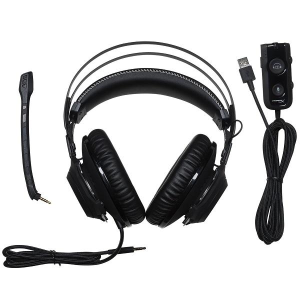 Kingston HyperX Cloud Revolver S Dolby 7.1 Surround Sound Gaming Headset هدست گیمینگ کینگ استون هایپراکس Cloud Revolver S با پشتیبانی از صدای دالبی 7.1 کانال به همراه کارت صدای خارجی