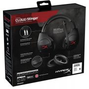 Kingston HyperX Cloud Stinger Gaming Headset - PC , Xbox 1 , PS4 , WII U , MAC , Mobile هدست گیمینگ برند کینگ استون هایپر اکس مدل Cloud Stinger سازگاری با PC , Xbox 1 , PS4 , WII U , MAC , Mobile