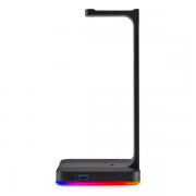 Corsair ST100 RGB Premium Headset Stand with 7.1 Surround Sound هدست گیمینگ به همراه کارت صدا 7.1 چنل برند Corsair مدل ST100 با قابلیت RGB