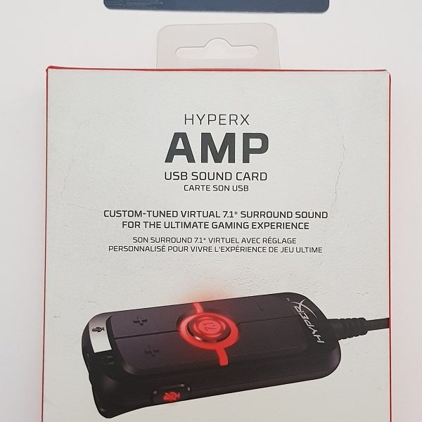 Kingston HyperX AMP USB Sound Card Virtual 7.1 Surround Sound کارت صدای USB با قابلیت اتصال به PC , PS4 , PS4 Pro برند Kingston سری HyperX مدل AMP USB Sound Card