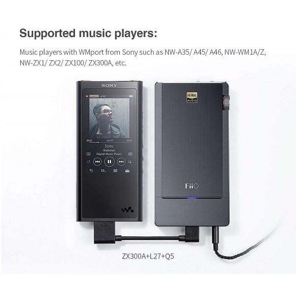 FiiO L27 WALKMAN WMport to Micro USB Digital Audio Cable کابل اتصال دیجیتال پخش کننده صوتی برند سونی واکمن به دیجیتال انالوگ کانورتر ( دک ) های خارجی برند فیو مدل L27